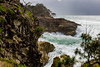 Turbulance at North Gorge - the Other Side (markjones bris) Tags: rocks gorge clouds rain ocean seas rough stradbrokeisland