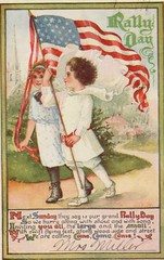 4283 (Ebenezer Maxwell Mansion) Tags: patriotic holiday greeting cards festive postcards museum collections flag