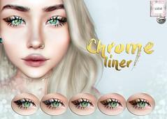 WarPaint* @ Lookbook. Chrome Liner (Mafalda Hienrichs) Tags: warpaint war paint secondlife lookbook event release bento catwa eyeliner liner makeup applier