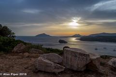 Sounion sunset-2 (PapaPiper) Tags: sounion sunset greece seascape europe attica sea boats sky skyline reflection aegean greatphotographers vividstriking greaterphotographers greatestphotographers