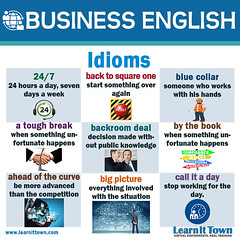 LIT BE Idioms 1 (Learn It Town) Tags: learn it town business english flashcards