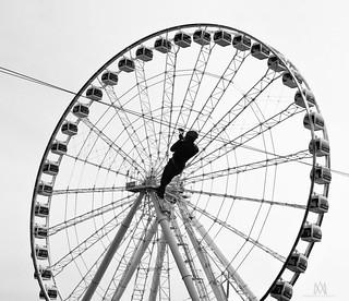 riding the wheel