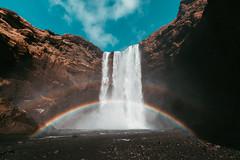 Skogafoss - Iceland - (Hadi Al-Sinan Photography) Tags: skogafoss skoga waterfall water travel iceland icelandic hadi alsinan photography 2018 cold rainbow double canon 5d
