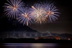 阿知須浦まつり花火大会 2018 #3ーFireworks Ajisu town, Yamaguchi city 2018 #3 (kurumaebi) Tags: yamaguchi 山口市 阿知須 nikon d750 ajisu 花火 fireworks sea 海 night 夜 landscape dusk
