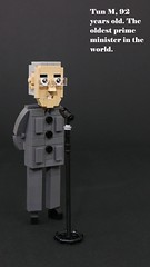 Tun Doctor M, 92 years old. The oldest prime minister in the world. (vincentkiew) Tags: pkr revolution opposition primeminister doctor politic malaysia mahathir moc lego