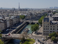 River Seine from Notre-Dame Cathedral (Donald Morrison) Tags: cathédralenotredamedeparis notredame cathedral church paris france notredamedeparis frenchgothic architecture romancatholic