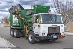 Autocar ACX - McNeilus AutoReach Garbage Truck (Thrash 'N' Trash Prodcutions) Tags: garbage trash refuse truck recycle recycling trucks mcneilus autoreach asl automated side load loader arm autocar xpeditor acx whitegmc volvo rubbish sanitation disposal waste collection vehicle wm wastemanagement green dump landfill dumpster bin cart container toter residential sanitary service trashmonkey22