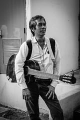 Musician (creteBee) Tags: hawaii city artist instrument music guitar man blackandwhite people lifestyle culture street urban monochrome