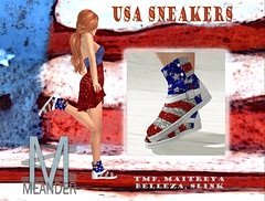 Limited Memorial Weekend & USA Sneakers @ Meander (lemaniaindigo) Tags: lemania secondlife meander special limited sneakers usa shoes spangle