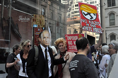 nazis (greenelent) Tags: notrump protest demonstration riseandresist streets people activists nyc newyork
