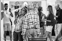 Das Konkrete & sein intuitiver Schatten (andrealinss) Tags: berlin bw berlinstreet blackandwhite neukölln garage installations installation ausstellung exhibition schwarzweiss andrealinss uwemoellhusen wolfgangnick heidirosin hdseibt zettelmann