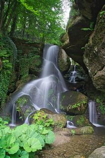 Sächsiche Schweiz Bastei Schrammsteine Lichtenhainer Wasserfall