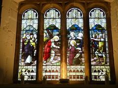 Church - St Mary, Kirkby Lonsdale 180405 [Atkinson Memorial Window a] (maljoe) Tags: church churches stmarys kirkbylonsdale stmaryskirkbylonsdale stmaryschurchkirkbylonsdale stainedglass stainedglasswindow stainedglasswindows