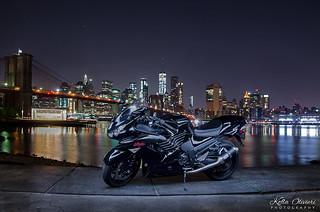 Brooklyn Bridge Park Waterfront - Kawasaki Ninja ZX14