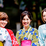 Beautiful Kimono Girls in Hase-dera Temple, Kamakura : 鎌倉・長谷寺にて着物美人 thumbnail