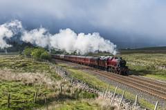 Into the Light (4486Merlin) Tags: galatea 45699 england europe exlms heritagerailways lms6p5fjubilee northwest northyorkshire railways settlecarlislesc steam transport unitedkingdom aisgill gbr fellsman statesmanrail wcrc