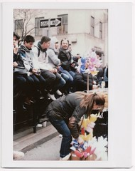 Participation. (yarr2d2) Tags: speedgraphic graflex largeformat notreally4x5 instaxwide fujiinstaxwide polaroid instant doxie easterbonnetfestival2018 parade