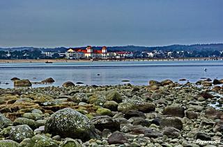 Blick auf das Kurhaus im Ostseebad Binz auf der Insel Rügen