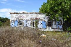 Sagres, Portugal (lera.f) Tags: portugal sagres streetart graffiti house abandoned alone nature outside field lost scene woods forrest holz plants tree green gras
