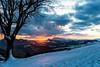 my last post of winter 2018 (lucafabbricesena) Tags: sunrise snowy landscape nature winter italy emiliaromagna sogliano sky clouds dawn light hills sanmarino village morning