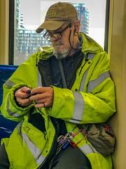 #Street&repeat108 #03 (Jomak1) Tags: 2018 april bodypiercing commuter crochet jomak1 knitting passenger streetphotography tube