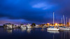 Blue hour at the marina (Ed Rosack) Tags: usa landscape calm restaurant water hires sailboat ©edrosack lowlight florida longexposure olympus dock highres bluehour marina cloud sanford riverscape sky centralflorida river harbor buildingandarchitecture boat cloudy