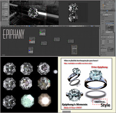 DiamondRing_Blend_collage (trineepiphany) Tags: blender3d opensim secondlife kitely 3dmodel gameasset ring diamond