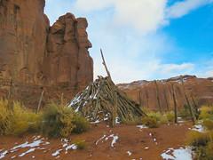 Monument Valley, Navajo Tribal Park #47 (jimsawthat) Tags: decayingcorral clouds rural arizona erosion geology highdesert navajo monumentvalleytribalpark