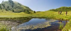 montagna estate (valeriabuzzi) Tags: trekking stagno laghetto panoramica prato prati