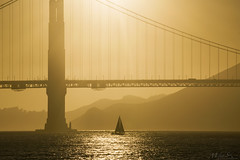 Golden Sunset over the Golden Gate (milton sun) Tags: sanfrancisco cityscape goldengatebridge bridge dusk seascape bay ngc bayarea wave ocean shore seaside coast california westcoast pacificocean landscape outdoor clouds sky water rock mountain rollinghills sea sand beach cliff nature evening sunset goldensunset