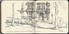 La casa Gallardo en el 2 de Ferraz (f.gómezcorisco) Tags: rotulador airelibre castejao urbansketchers cuaderno apunte boceto dibujo madrid españa