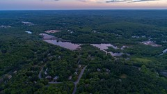 Evening reflections (arckphoto) Tags: dji drone northbridge phantom4pro sky clouds sunset weather massachusetts unitedstates us newengland storm reflections