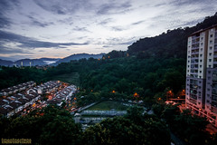 Dawn In The Valley (AriyusAris) Tags: kuala lumpur ampang malaysia selangor landscape urban scape dawn sunrise morning clouds hill forest housing terrace apartment cloud