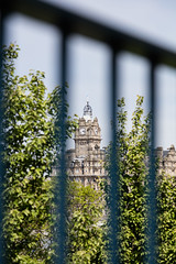 Wander with Alastair May 23rd 2018  (41 of 45) (Philip Gillespie) Tags: edinburgh scotland 2018 may summer spring canon 5dsr street people buildings architecture windows monuments castle historic old vennel cranes sky clouds sun water trees park arch court balmoral hotel lines shapes colour color green blue red yellow orange birds cats dogs duck goose heron pond lake flying swimming man woman statue horse folly path black white mono monochrome bike road angles flags bunting art artistic shade shadow