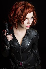 Hired Gun... (Ring of Fire Hot Sauce 1) Tags: cosplay blackwidow quirkygirlcosplay redhead avengers wondercon portrait glamour