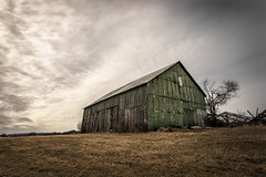Abandoned Cloud Farm (SNAPShots by PJW *Join LNP*) Tags: lines patterns barns abandoned dof depthoffield texture detail light architecture buildings clouds skies cloudscapes landscapes colour old broken outisde nature