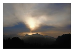 Among the spring haze #1 (kouji fujiwara) Tags: fujifilmxpro2 fujifilm xpro2 fujinon fujinonxf35mmf14 xf35mmf14 35mm f14 sunrise 朝日 春霞 springhaze spring haze landscape landschaft