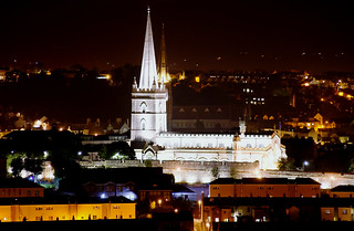 Night view of St Columbs & St Eugene Cathedral Derry