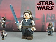 Custom LEGO Star Wars The Last Jedi: Rey (Will HR) Tags: lego starwars thelastjedi rey custom