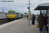 221 arrives at Portarlington, 31/3/18 (hurricanemk1c) Tags: railways railway train trains irish rail irishrail iarnród éireann iarnródéireann 2018 generalmotors gm emd 201 221 portarlington 1622newbridgecork