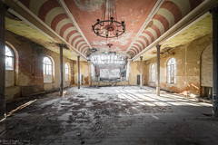 Night Fever (Dennis van Dijk) Tags: urbex urban exploration eu ue europe germany forgotten abandoned decay derelict beauty moody precious lost found dust closed bygone old era ballroom theatre dance dancing stage fright final curtain fallen
