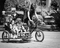 Home Sir (Beegee49) Tags: street public transport pedicab rider children silay city philippines