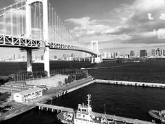 view. (framingthestreets) Tags: japan tokyo narita naritaairpot odaiba blackandwhite balckandwhite photos landscape locations streetphotography
