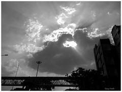 Light beyond the darkness (upayankita) Tags: motog cloud nature india bangalore sunset city