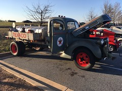 40-41 Ford 2 ton pickup (Two Sprints) Tags: patina fordtruck bigtruck cruisein carshow truck pickup 2ton dually dualwheel powerpark