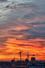 DragonFire (BlinkOfALens) Tags: chicago illinois sunset cloulds storm orange cityscape vivid