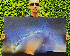 Size matters... (Robyn Hooz) Tags: photo selfie viaggio milkyway happiness print home volcano réunion island me glasses huge sizematters