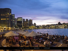 Relaxing evening (Joseph@Oz) Tags: evening relaxing food drink nightlights city dining views harbor harbour sydney