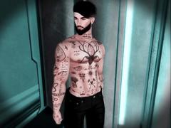 Stud (☾☾Ṁṣ Ṃȭłłỳ ☽☽) Tags: hot handsome dude guy sexy fashion cute belleza catwa daniel shirtless tattooed tattoos
