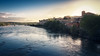 Sesgado atardecer (Jaime A Ballestero) Tags: jaimea zamora río duero puente nuevo cemento orilla atardecer azul